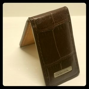 Fossil Genuine Leather Money Clip